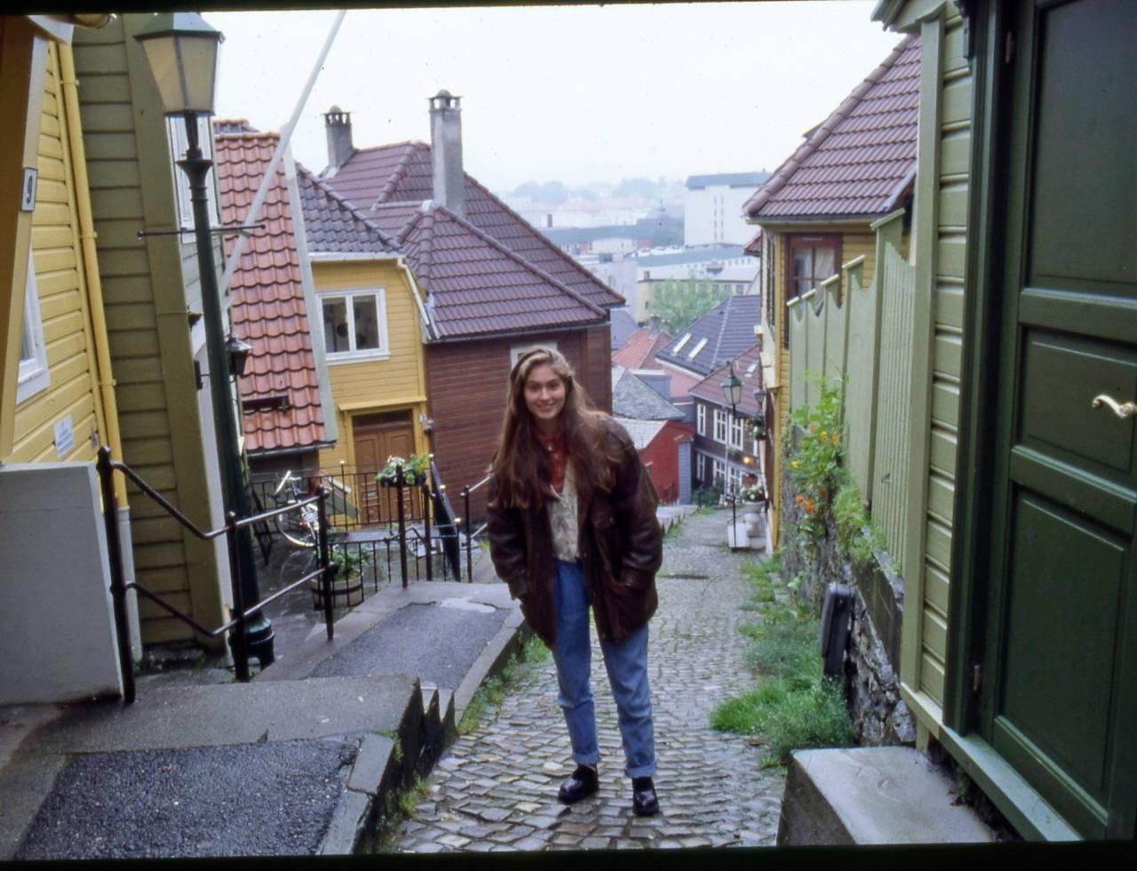 Sissel Kyrkjebø i Bergen 1989, där hon är född och uppvuxen.