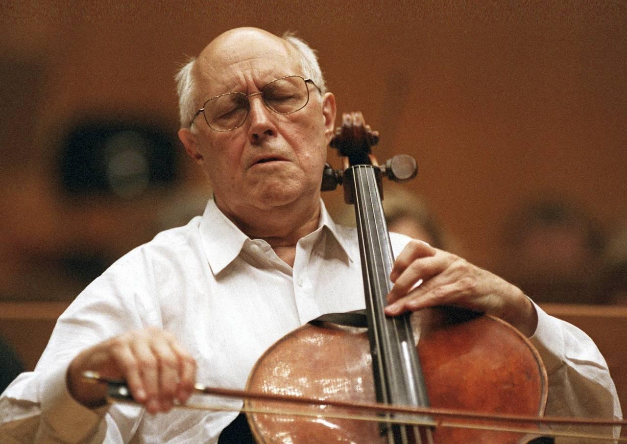 Den legendariske ryske cellisten Mstislav Rostropovich (1927–07) spelade på Stradivarius mest kända cello