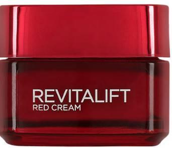 Dagcreme med röda pigment som tar bort glåmighet, L´oreal Red Cream