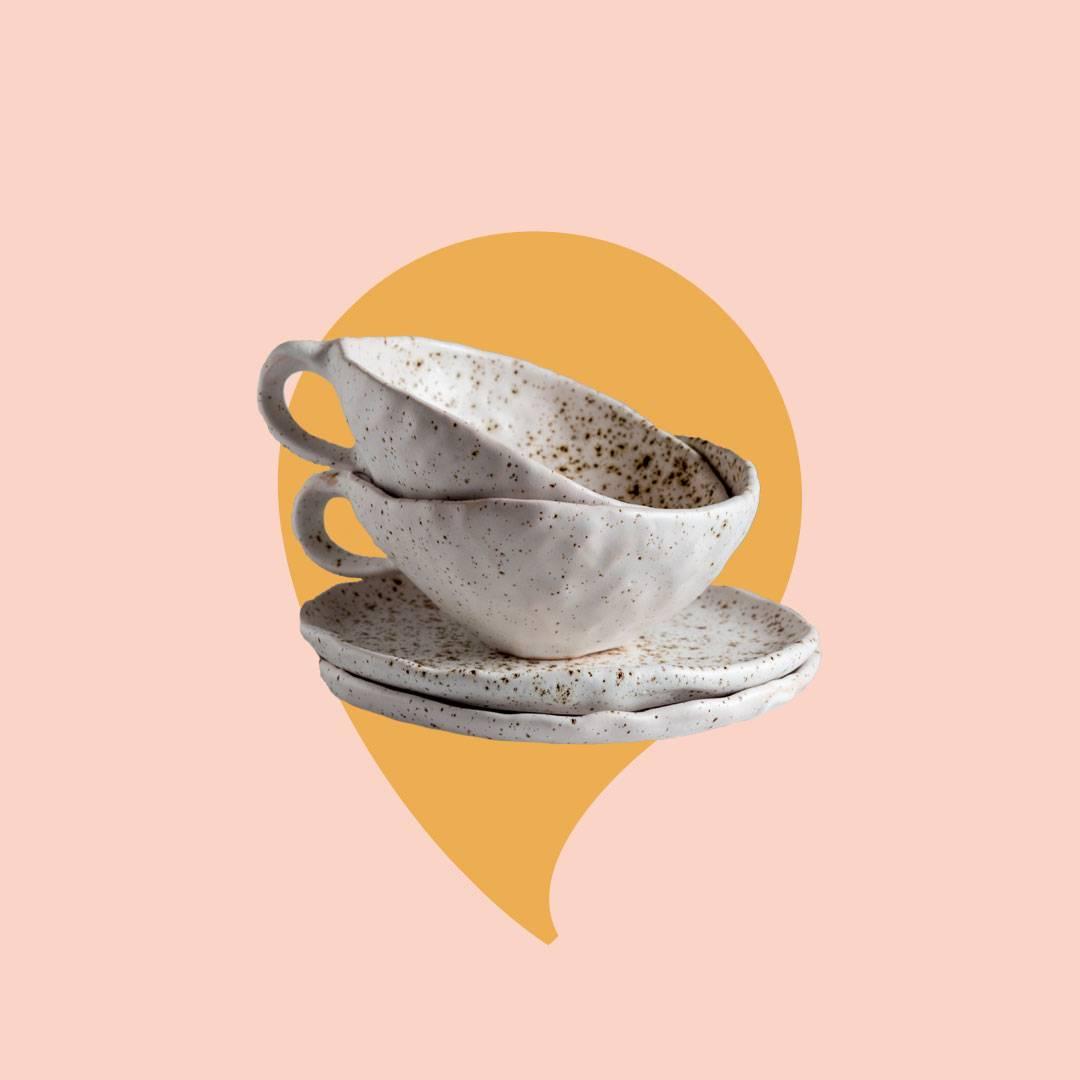 Tekoppar i keramik
