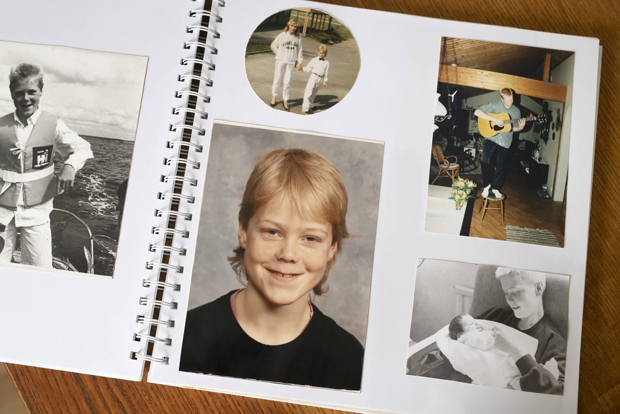 Sida ur Anne Ryens fotoalbum. Hon missbrukade själv under söndernas uppväxt.