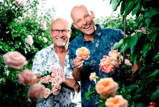 Björn-Åke och Jürgen i Paradiset Iris på Kanal 5 hösten 2019.