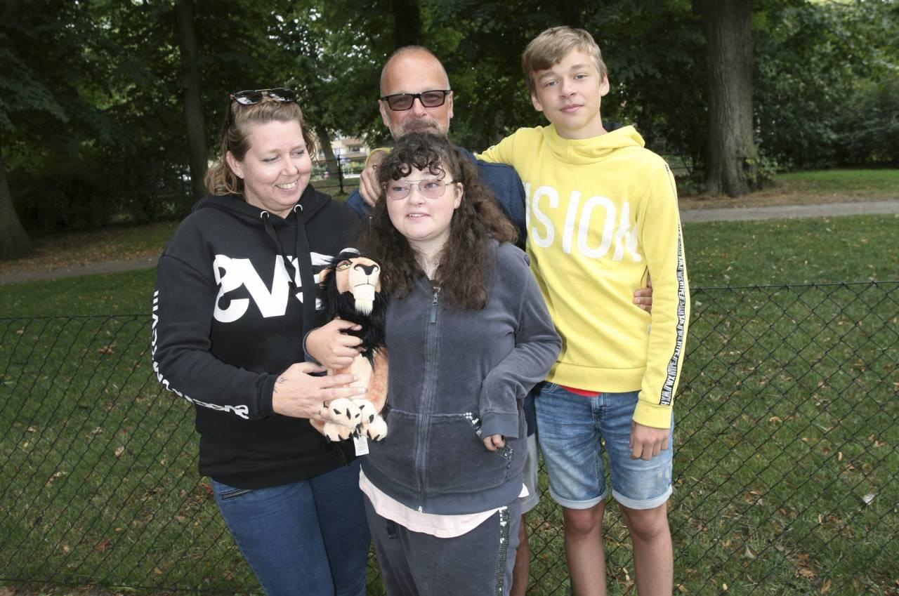Familjen Vahlman/Dahlin som också drabbats av Cohens syndrom.