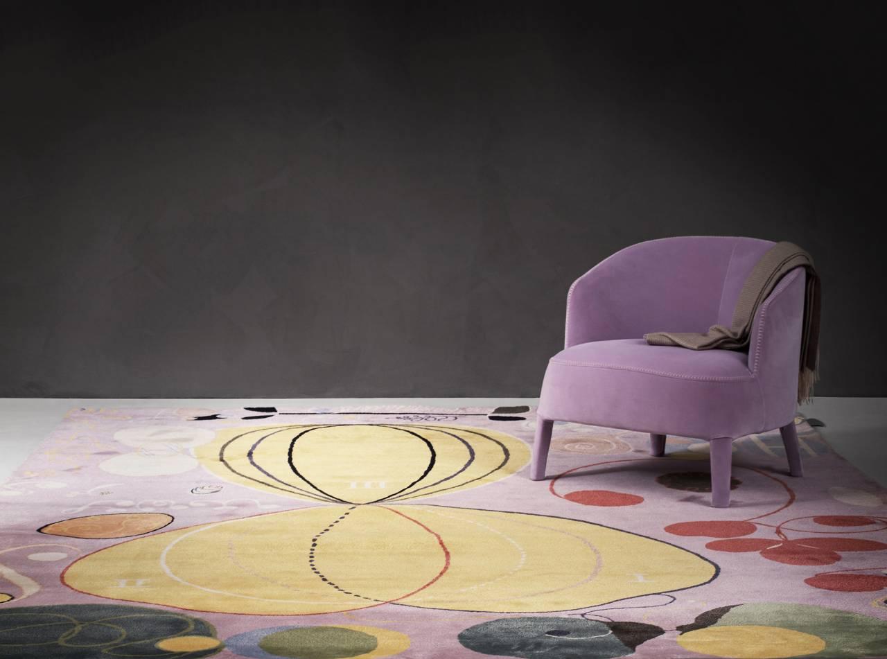 Förra hösten släpptes en serielimiterade mattor med motiv från Hilma af Klints Tempelserie, skapad 1906–1915.