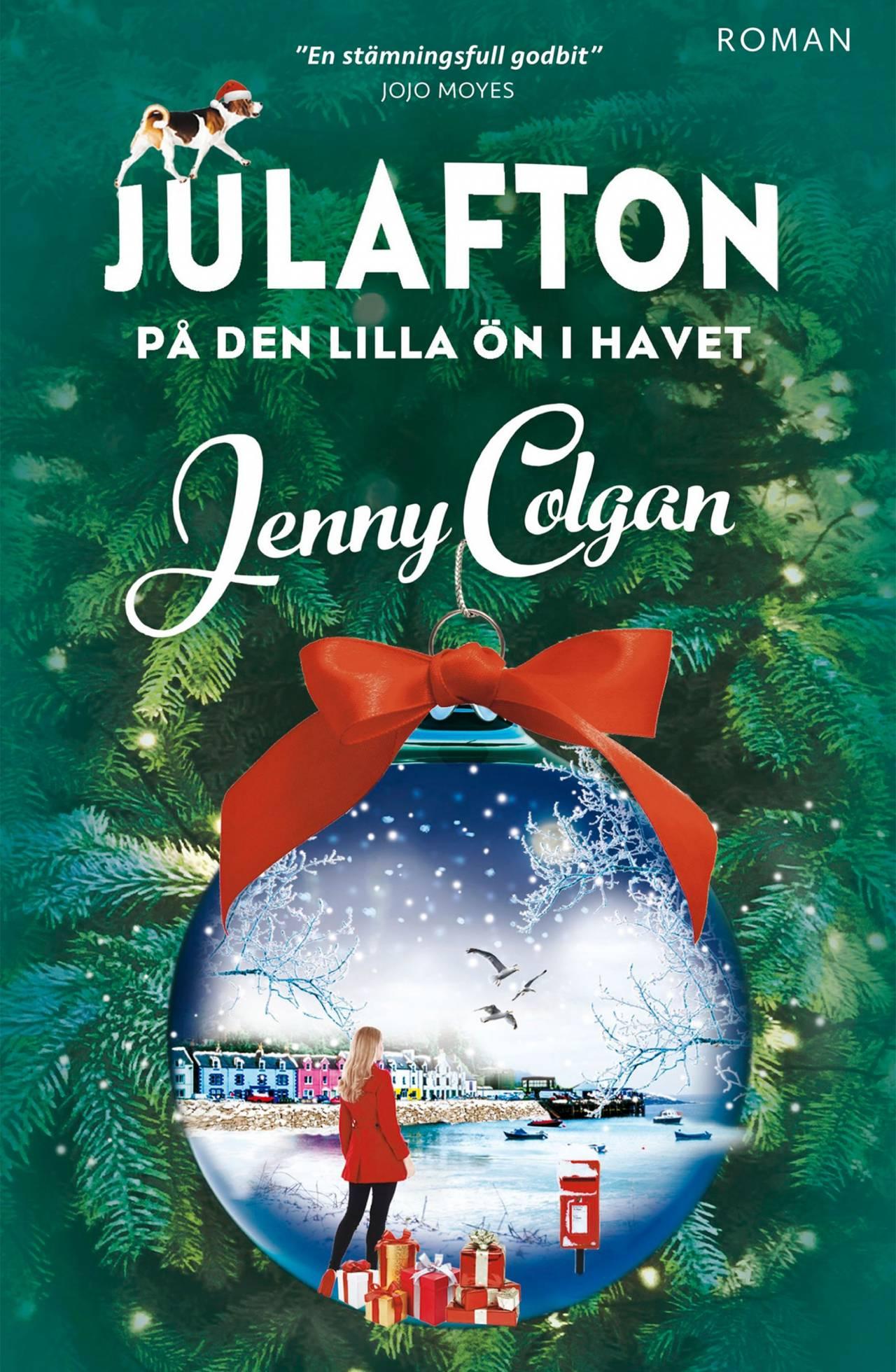 Bokomslag på Jenny Colgans senaste bok Julafton på den lilla ön i havet.