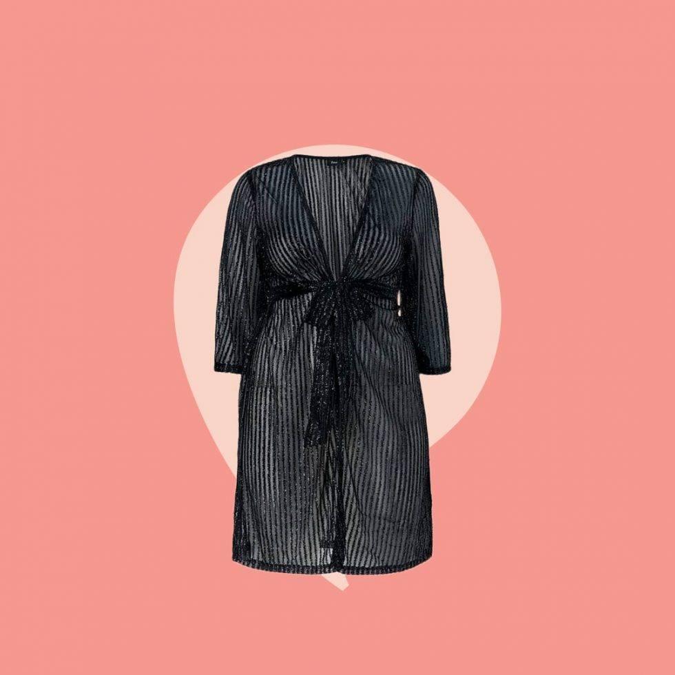 Kimono glittrig i alla storlekar.