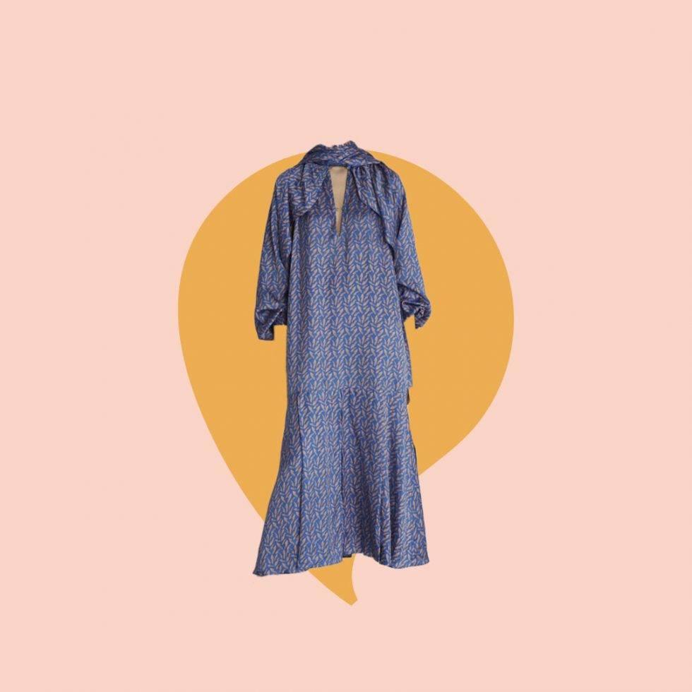 Blå klänning från Rodebjer som Victoria har på sig