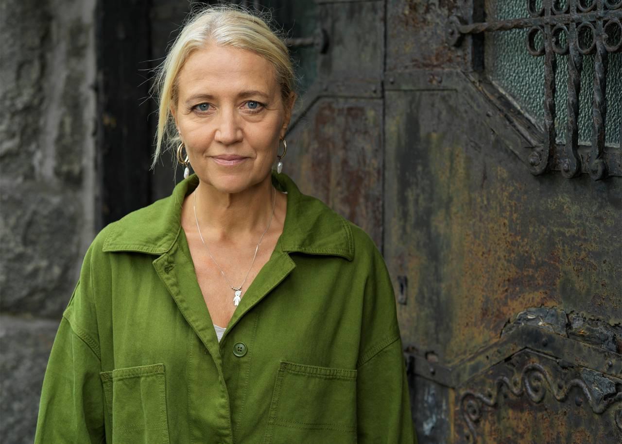 Närbild på skådespelaren Klara Zimmergren.