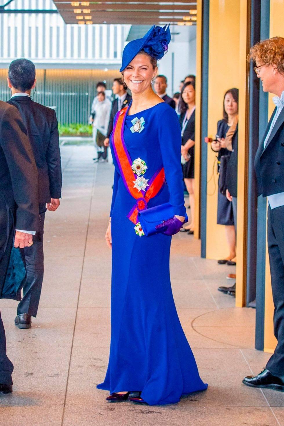 Kronprinsessan Victoria i blå klänning för att uppmärksamma havens hälsa.