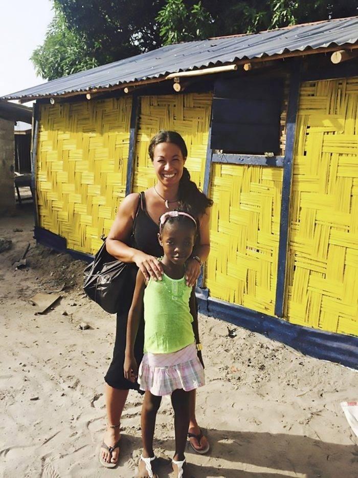 Magda Gad tillsammans med sin Liberia-dotter Gloria