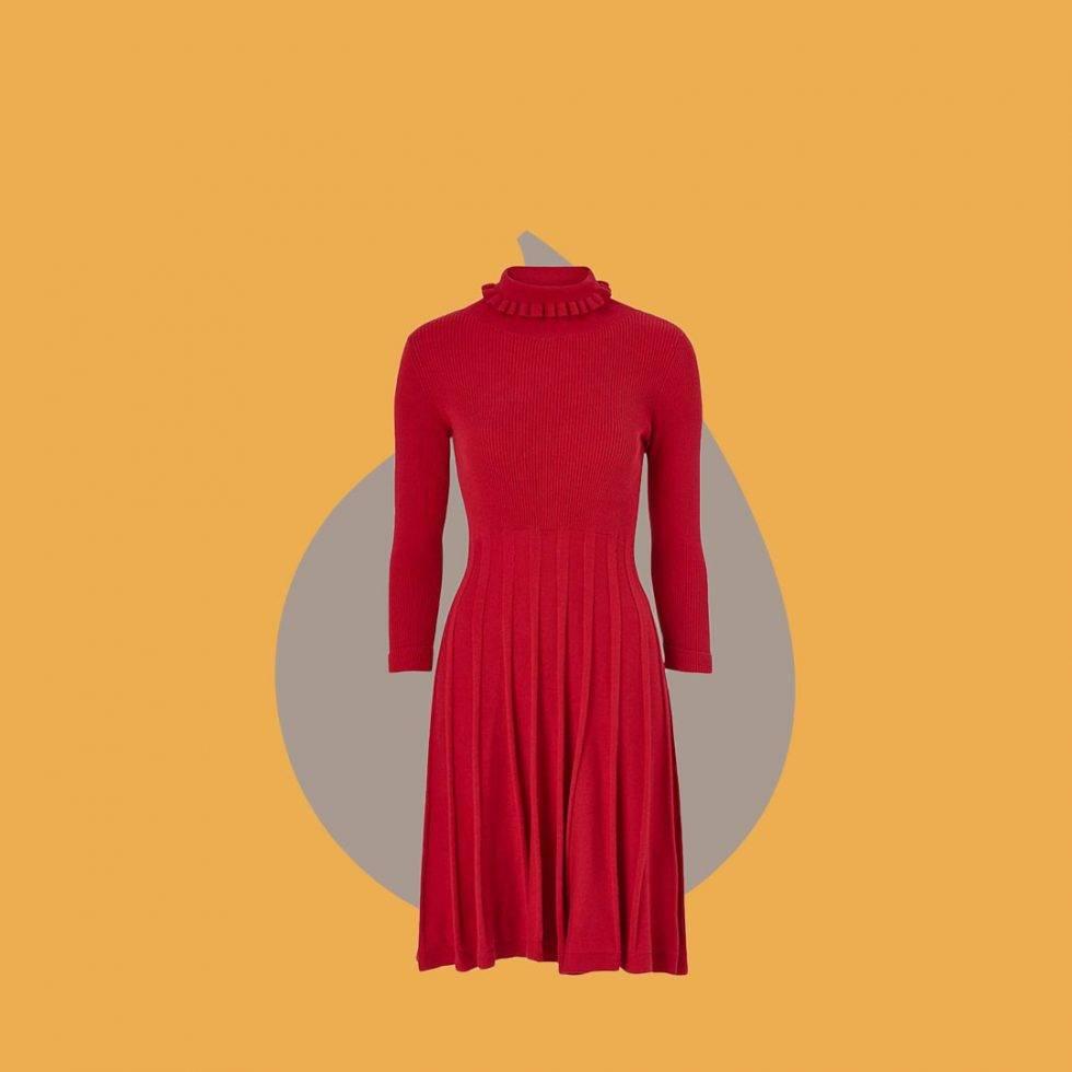 Röd klänning från Jumperfabriken