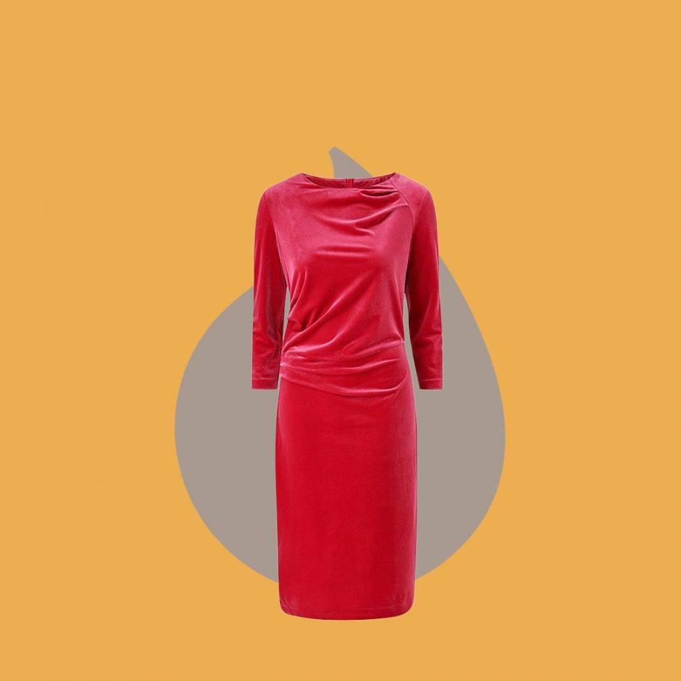 Röd sammetsklänning från Inwear