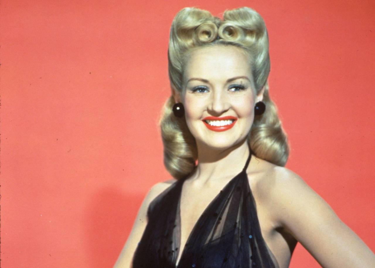 Skådespelerskan, dansaren och modellen Betty Grable i