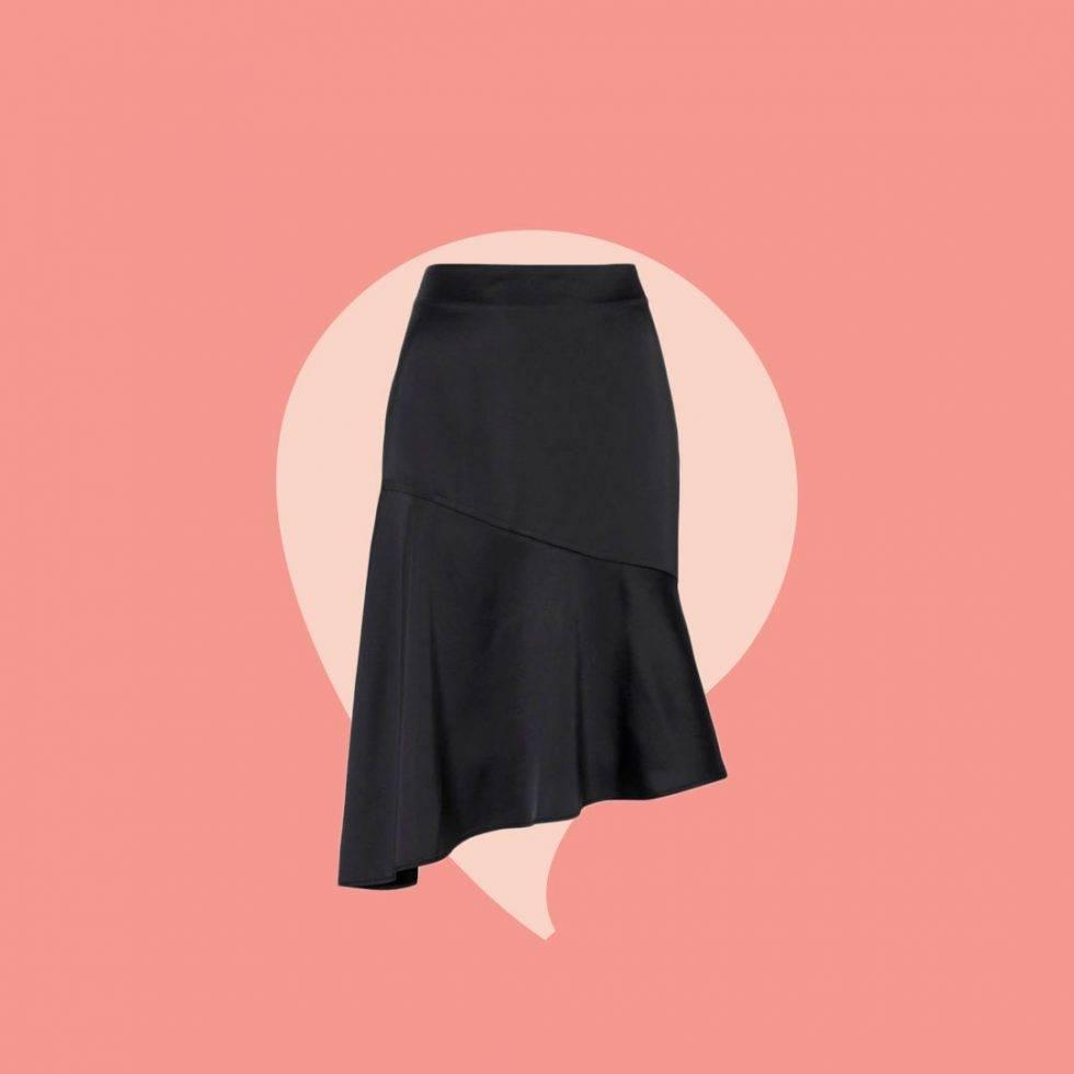 Snedskuren kjol i alla storlekar
