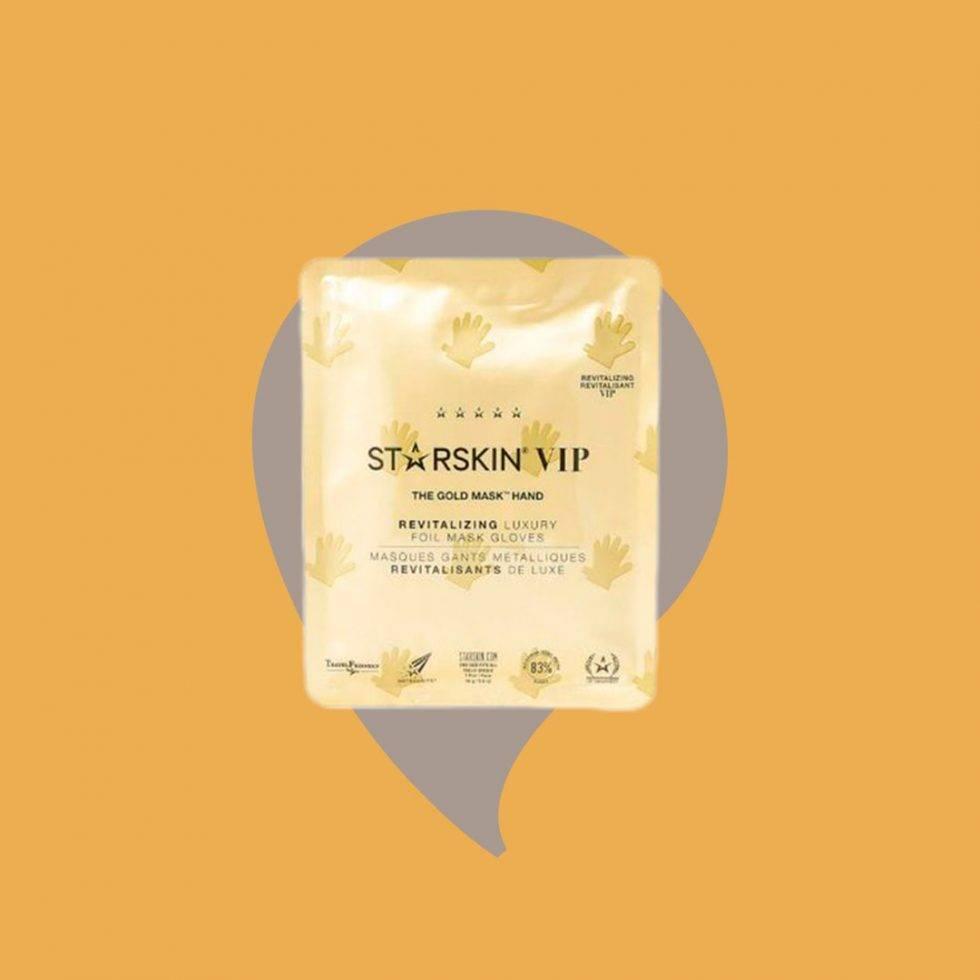 Starskin gold revolution mask för handen mot torra händer.