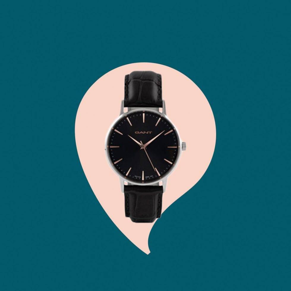 Svart klocka Gant
