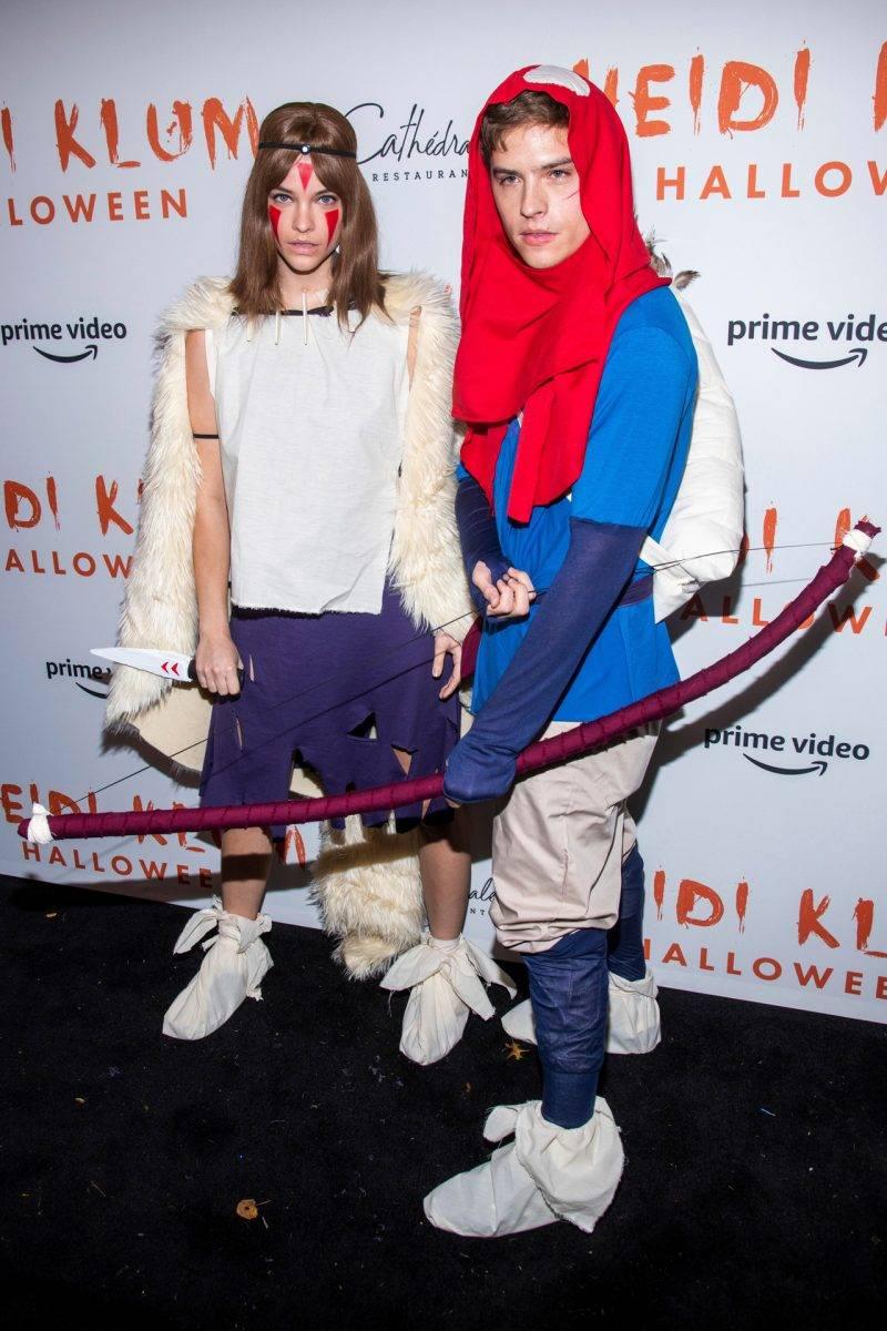 Barbara Palvin och Dylan Sprouse på Heidi Klums halloweenfest 2019