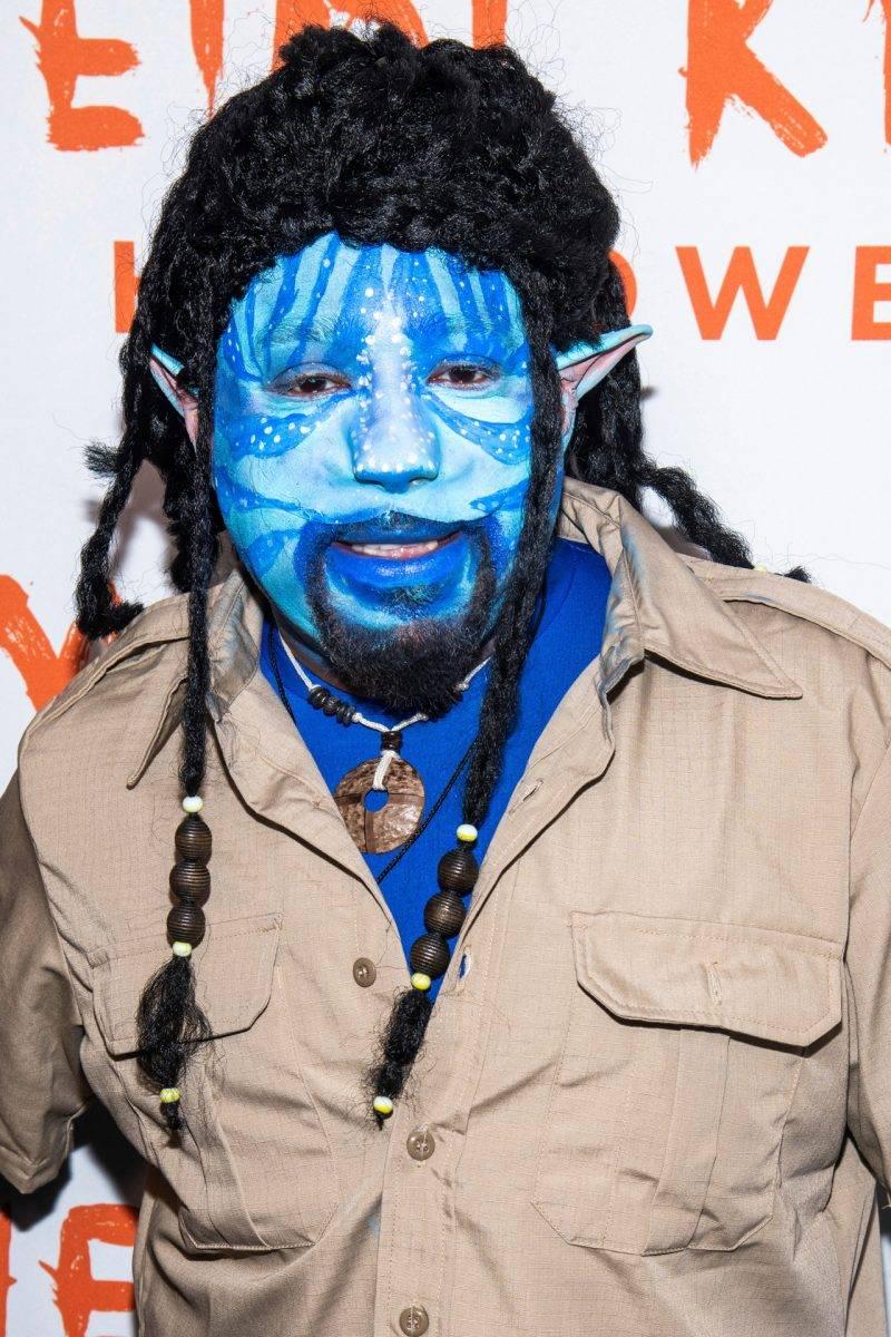 Daymond John på Heidi Klums halloweenfest 2019