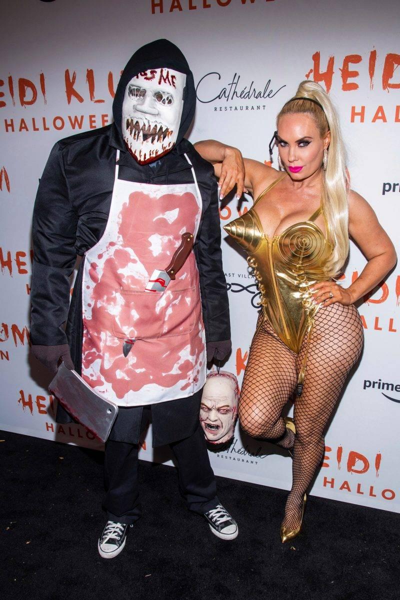 Ice-T och Coco Austin på Heidi Klums halloweenfest 2019