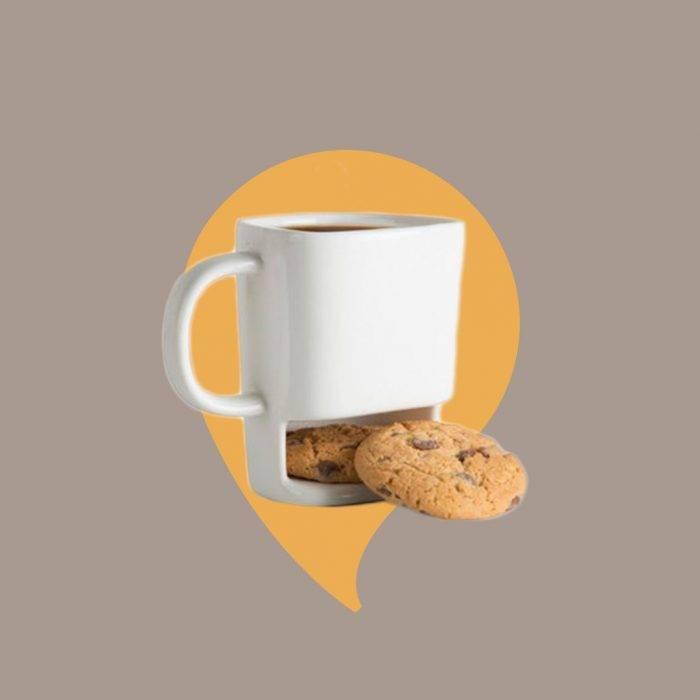 Julklappsspelet, tips på presenter: Mugg med plats för kakor
