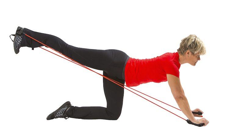 Träna med gummiband – Sju övningar för hela kroppen.