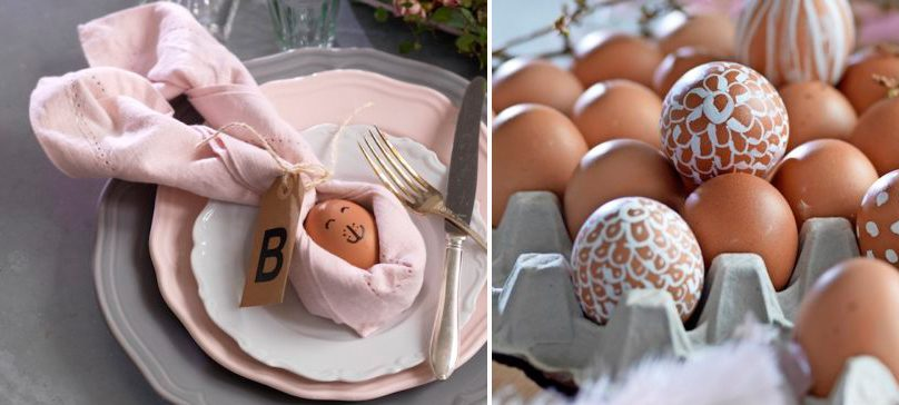 Så här målar du dina påskägg snyggast – och viker servetter som ser ut som kaniner.