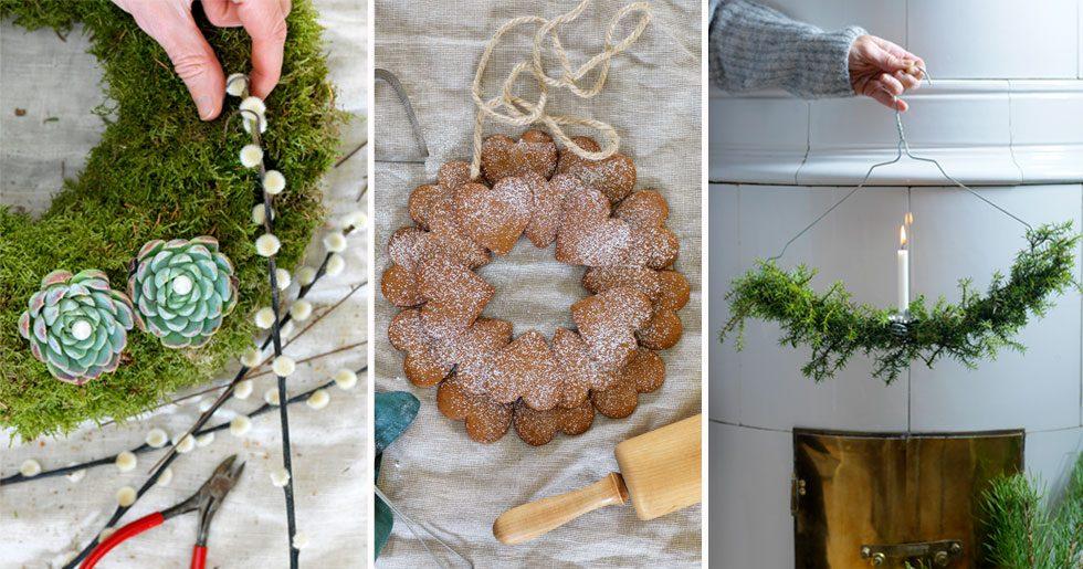 5 fina julkransar att dekorera med – så gör du dem