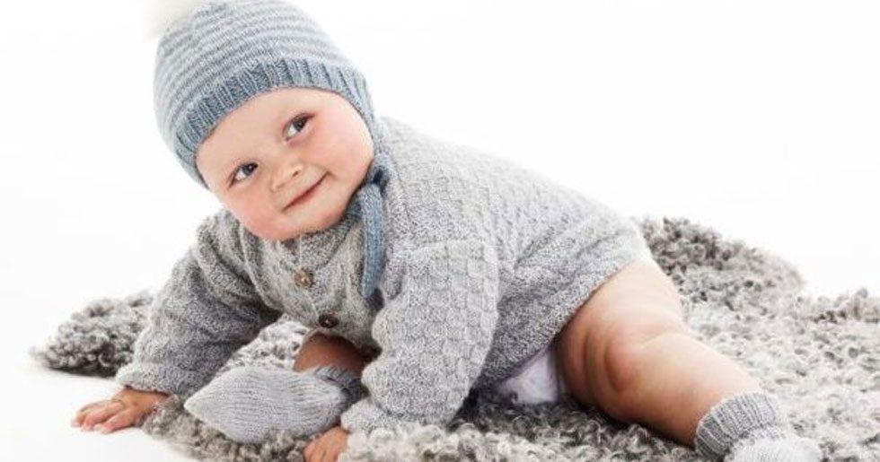Mönster till stickad babykofta