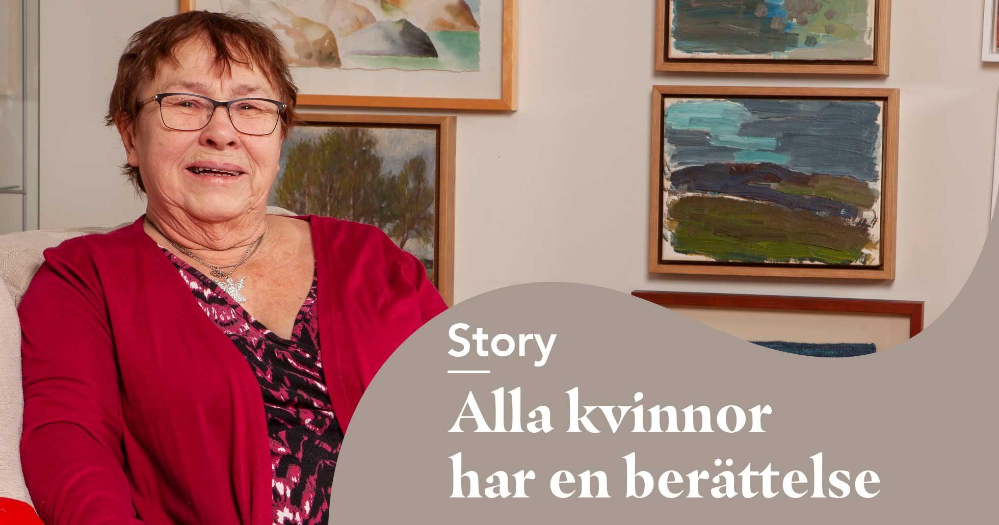 Marianne Falk jobbar som dödsdoula och hjälper människor inför sista tiden.