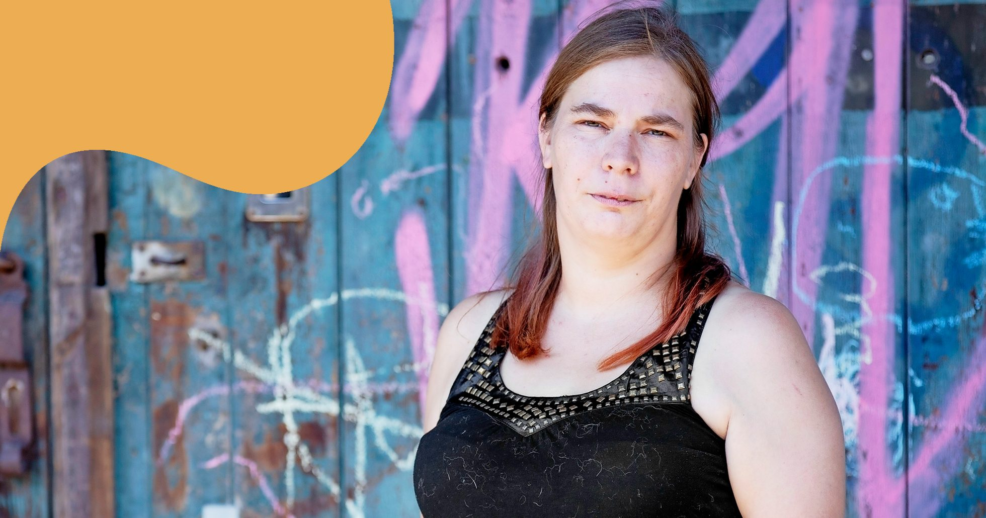 Porträtt av Anita som var hemlös i 14 år