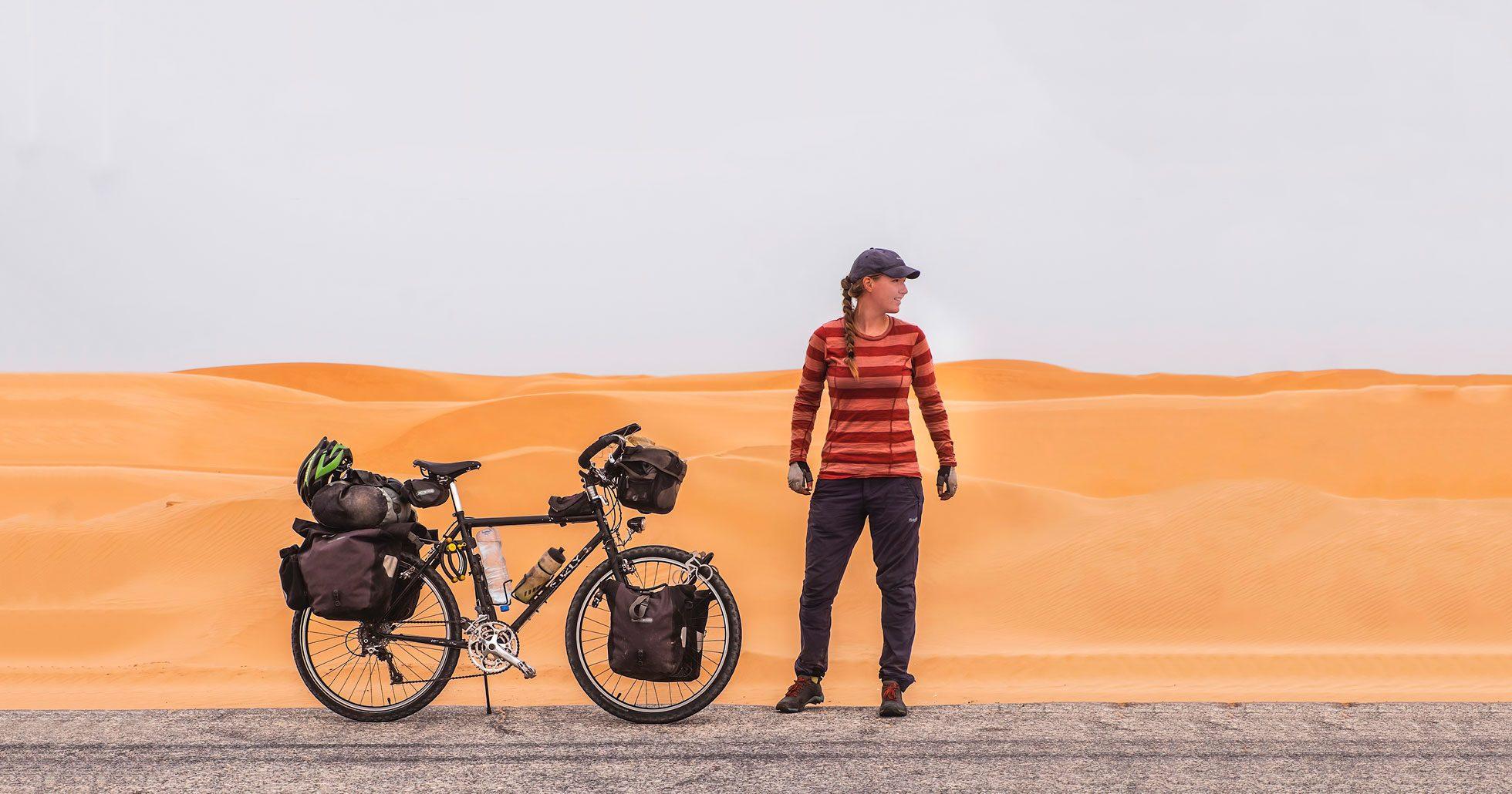 Fredrika cyklade jorden runt under tre år