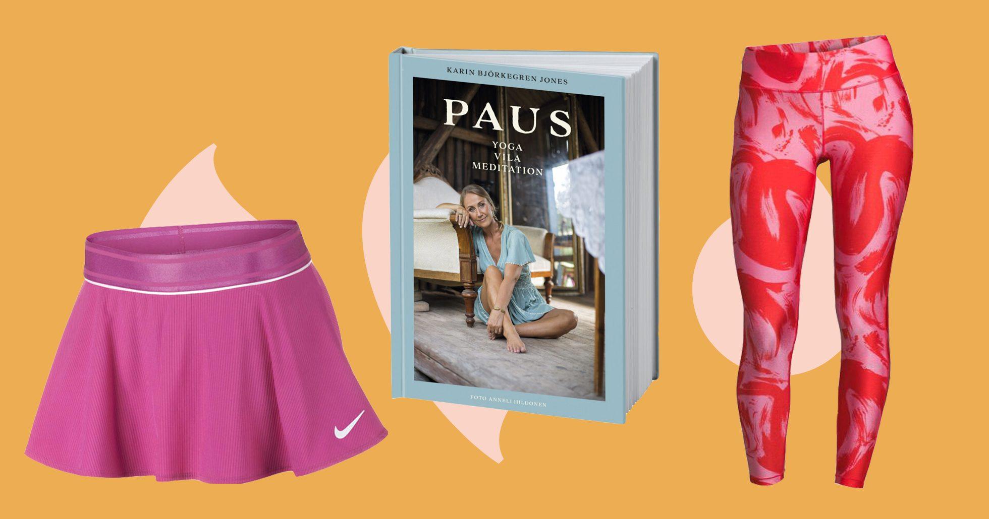 Tenniskjol, bok och träningstights till mamma