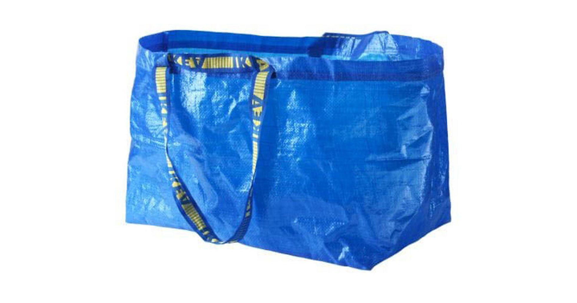 Ikeas klassiska blåa bärkasse Frakta