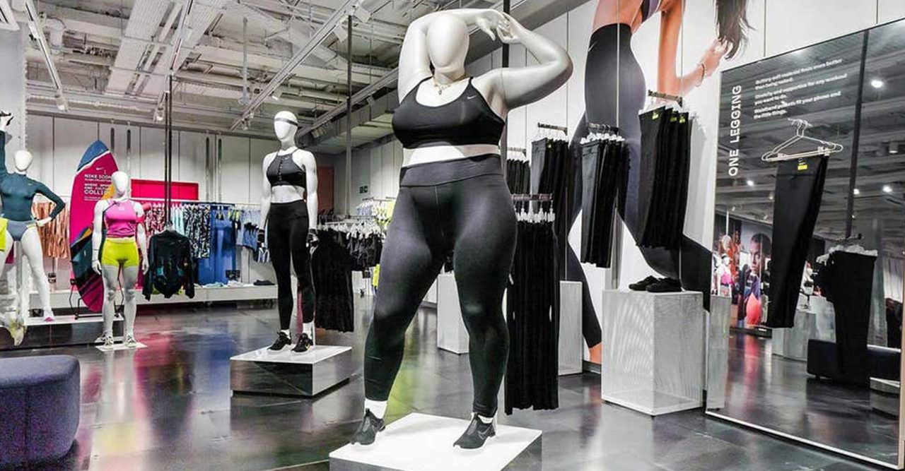 Nike börjar med skyltdockor i plus size
