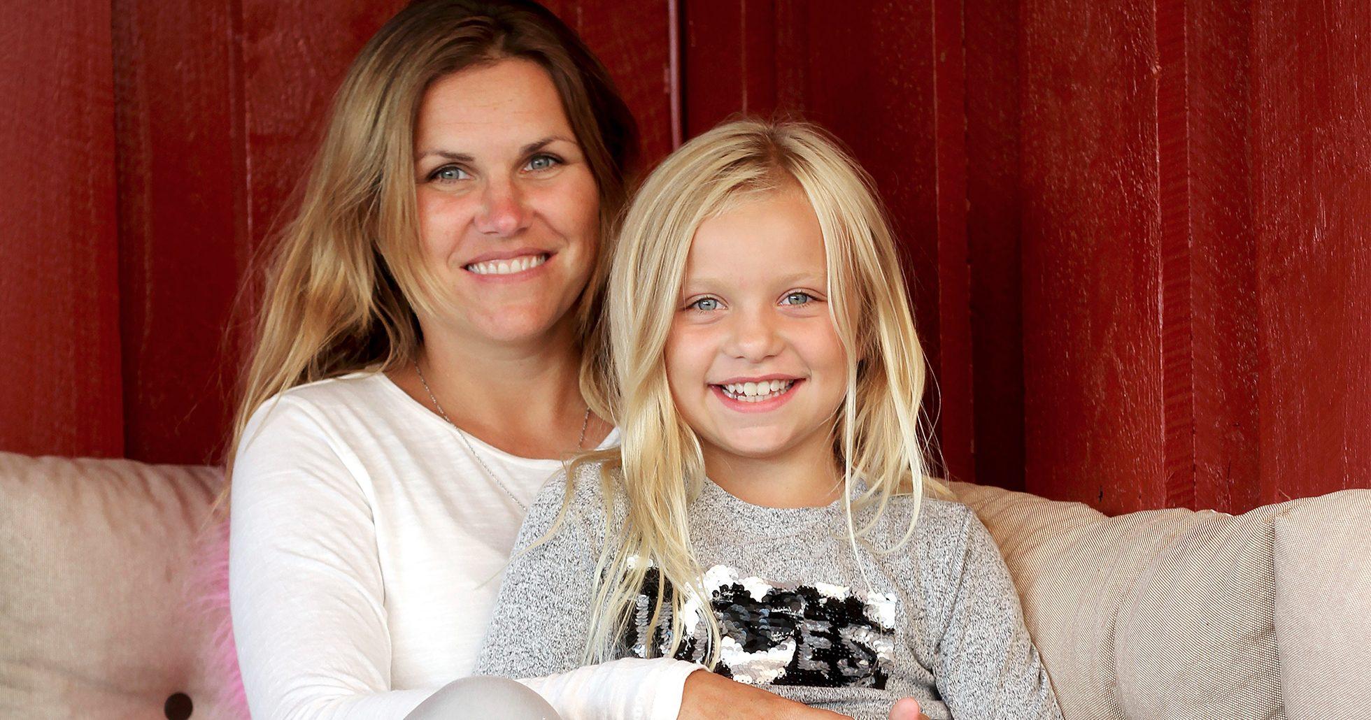 Mia tillsammans med dotter