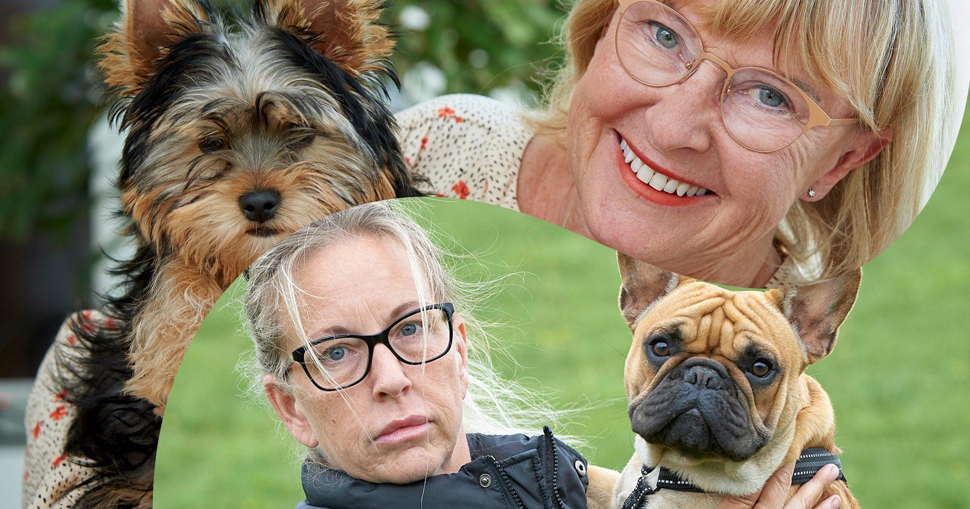 Veronika och Margareta med hundar