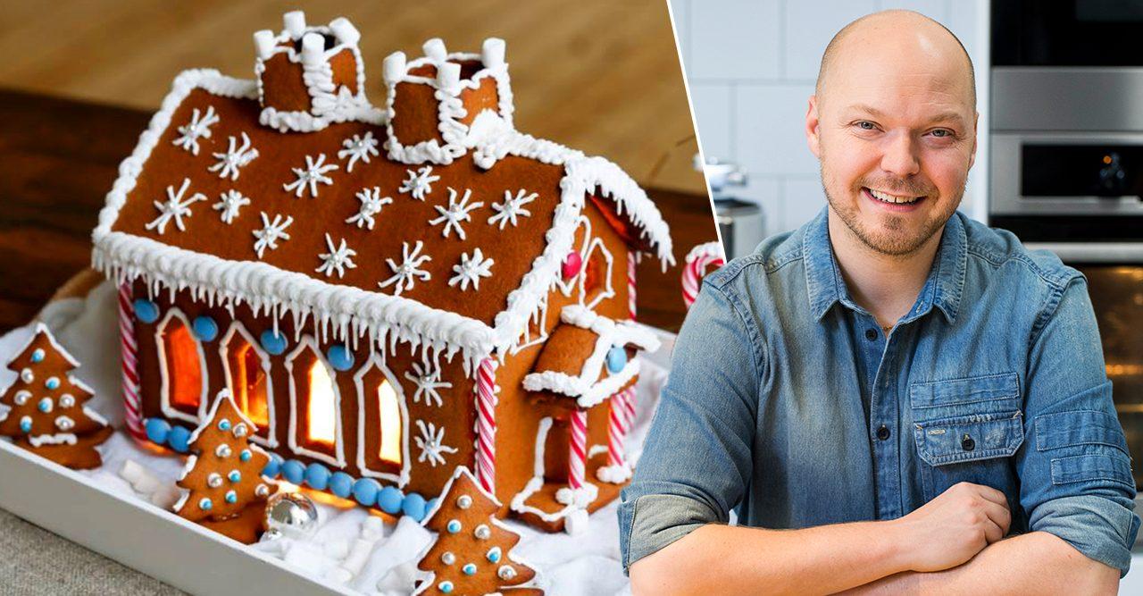 Fredrik Nylén driver bloggen Fredriks fika och ger tips och inspiration kring pepparkakshus.