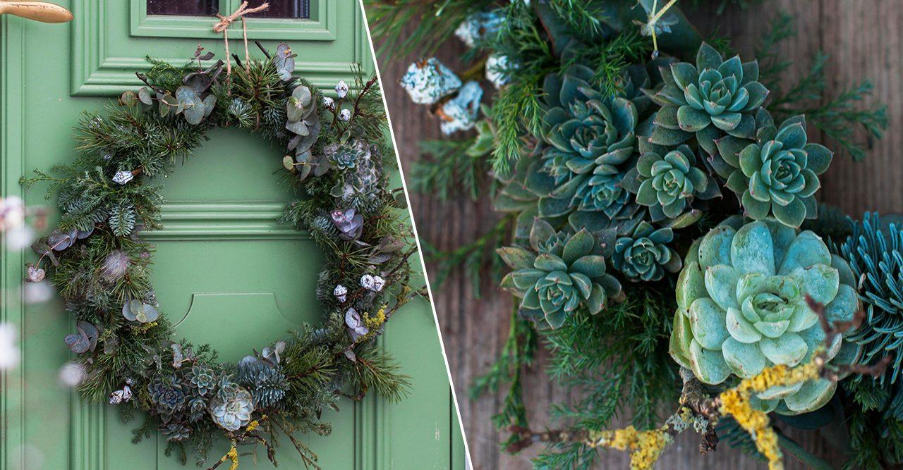 Julig dörrkrans – gör den så här!