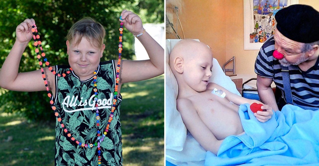 Efter ett och ett halvt års behandling är Felix fri från cancer