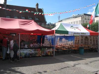Italiensk matmarknad i Borås