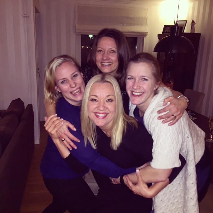 Med finaste tjejerna Helena, Malin och Cecilia