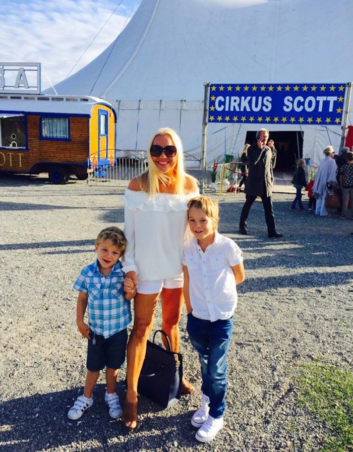 Malin Watson söner AlexJames Premiär Cirkus Scott Babblarna