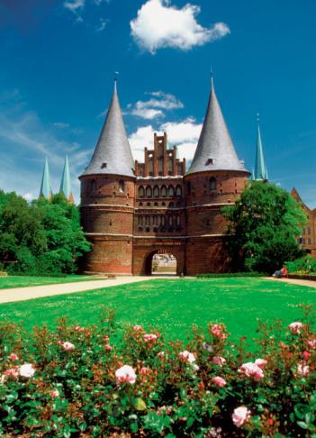 Statsporten i Lübeck, en tjusig vy som vi hoppas att få se på semestern!