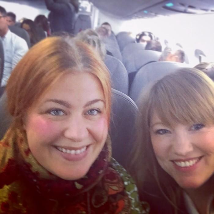 "Vi kan kalla det ""Westmanflyget"". Och givetvis blev det en selfie!"