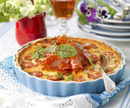 salamipaj med mozzarella