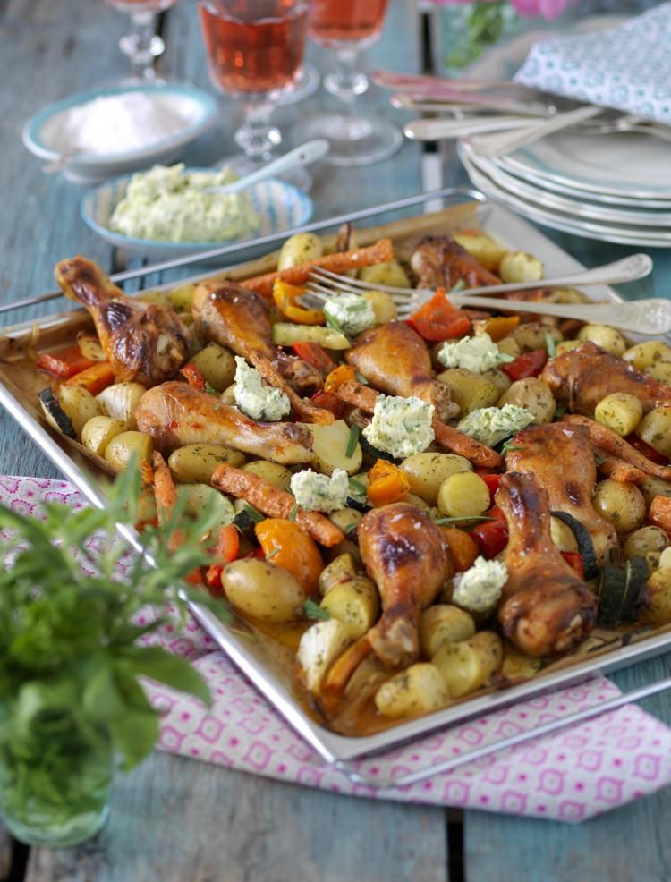 kyckling med grönsaker