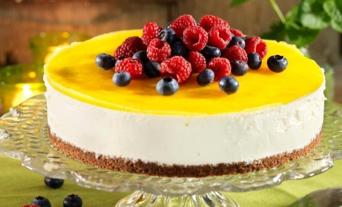 cheesecake citron i ugn