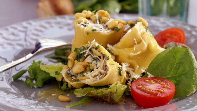Fylld pasta med svamp och ricottaost recept