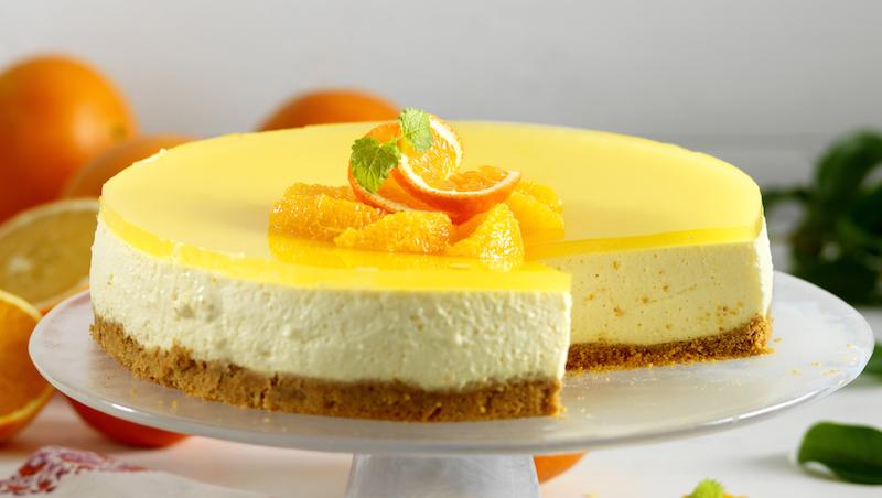 Krämig cheesecake med apelsin