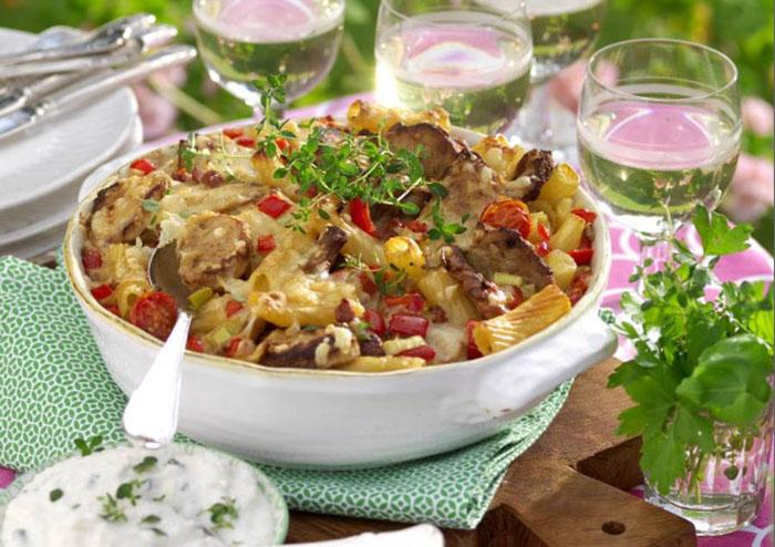 gratäng med pasta